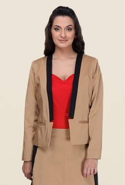 Kaaryah Khaki Full Sleeves Jacket