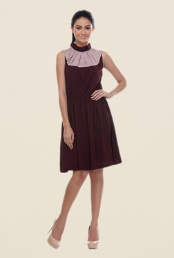 Kaaryah Wine Sleeveless Dress