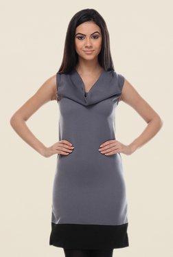 Kaaryah Grey Sleeveless Dress