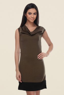 Kaaryah Olive Sleeveless Dress