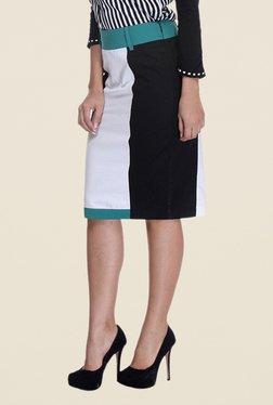 Kaaryah Black & White Pencil Skirt