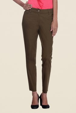 Kaaryah Brown Solid Trouser