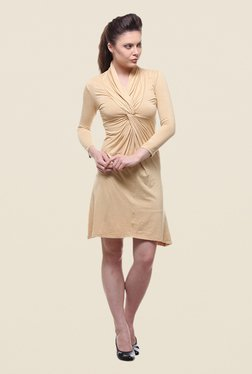 Kaaryah Yellow Solid Dress