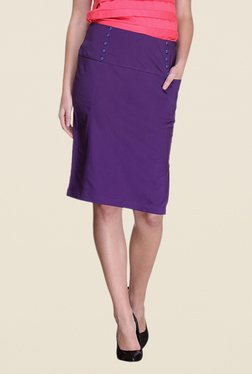 Kaaryah Purple Pencil Skirt