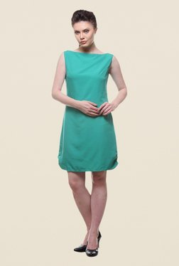 Kaaryah Sea Green Sleeveless Dress