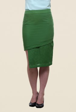 Kaaryah Green Pencil Skirt