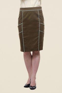 Kaaryah Olive Pencil Skirt