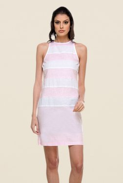 Kaaryah Pink & White Striped Dress