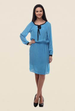 Kaaryah Blue Blouson Dress