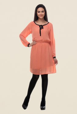 Kaaryah Peach Blouson Dress