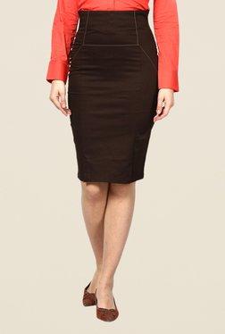 Kaaryah Brown Pencil Skirt - Mp000000000364513