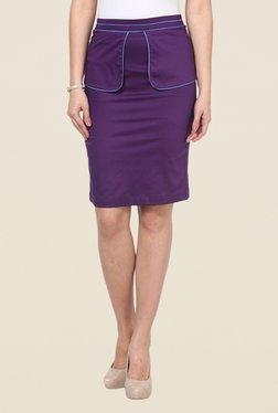 Kaaryah Purple Solid Skirt