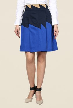 Kaaryah Blue & Navy A Line Skirt