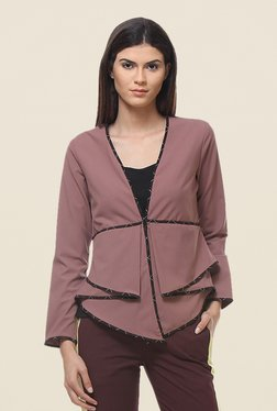 Kaaryah Pink Full Sleeves Blended Jacket