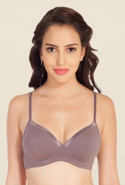 Soie Grey Demi Cup Non Wired Padded Bra