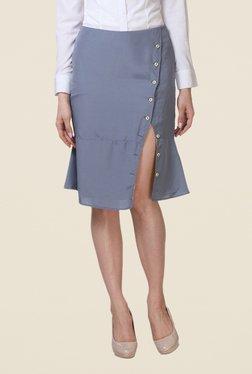 Kaaryah Grey A Line Skirt
