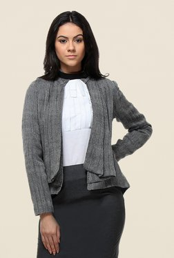 Kaaryah Grey Printed Jacket
