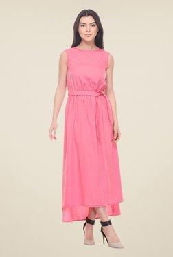 Kaaryah Pink Sleeveless Dress