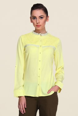 Kaaryah Yellow Solid Shirt