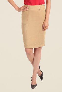 Kaaryah Beige Pencil Skirt