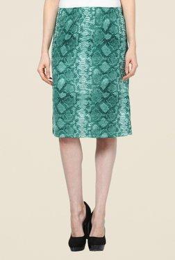 Kaaryah Turquoise Snake Print Skirt