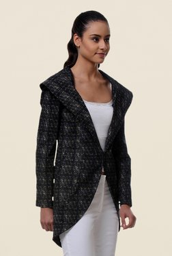 Kaaryah Black Printed Regular Fit Jacket