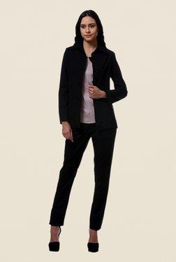 Kaaryah Black Full Sleeves Wool Jacket