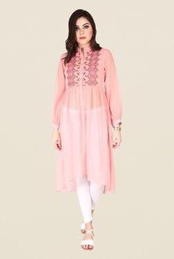 Soie Rose Pink Printed Tunic