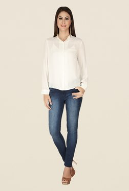 Soie Off White Solid Top - Mp000000000370551