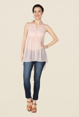 Soie Baby Pink Solid Top - Mp000000000370048