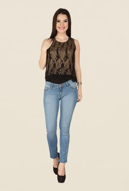 Soie Black Lace Top - Mp000000000370811