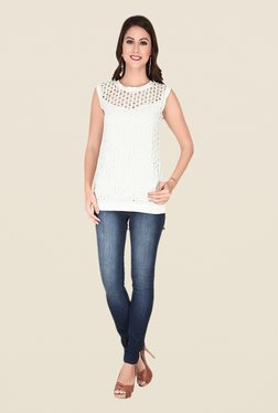 Soie Off White Lace Top - Mp000000000370901