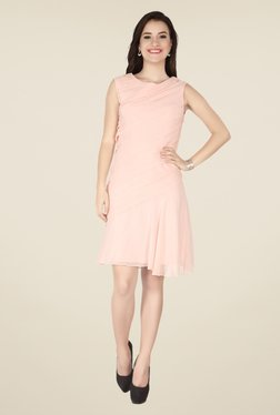 Soie Baby Pink Solid Dress