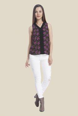 Vero Moda Black Floral Print Top