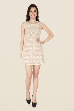 Soie Beige Lace Dress - Mp000000000371364