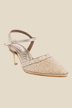 Haute Diva by Mochi Antique Gold Casual Sandals