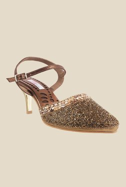 Haute Diva by Mochi Golden Sling Back Sandals