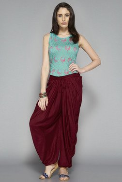 Bombay Paisley by Westside Turquoise Printed Top