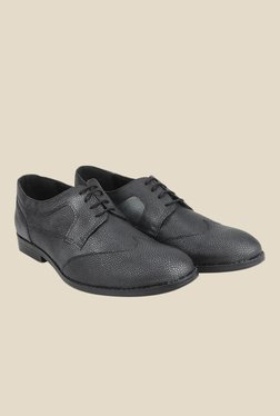 Knotty Derby Oliver Side Panel Black Derby Shoes