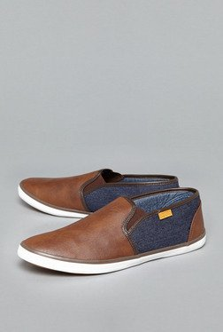 Nuon By Westside Brown Slip-On Shoes