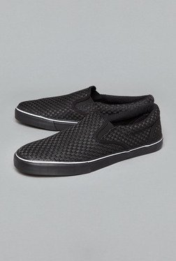 Nuon By Westside Black Slip-On Shoes - Mp000000000375788