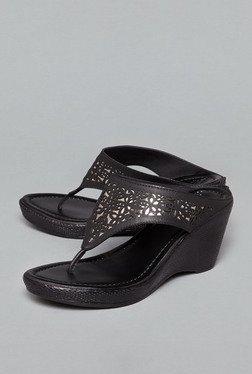 Head Over Heels By Westside Black Wedge Sandals
