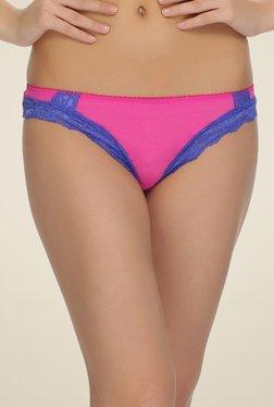 Clovia Pink Lacy Bikini Panty