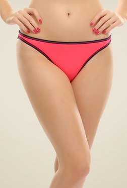 Clovia Fuchsia Bikini Panty With Black Trims