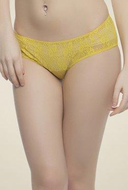 Clovia Yellow Lace Bikini Panty