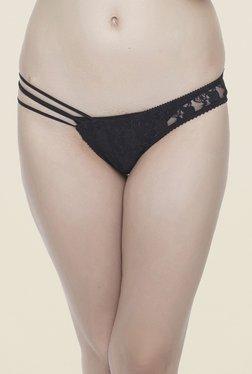 Clovia Black Sheer Lacy Bikini Panty