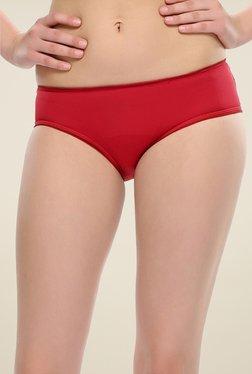 Clovia Maroon Lacy Bikini Panty