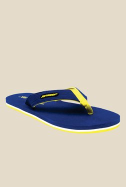 Solethreads Towel Royal Blue & Yellow Flip Flops