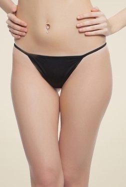 Clovia Black Cotton Thong Panty