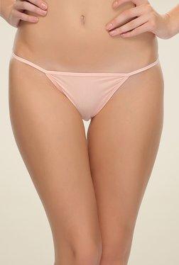 Clovia Beige Lacy Bikini Panty